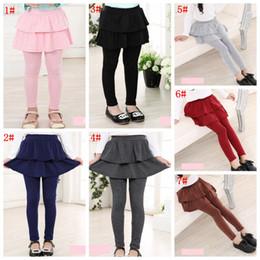 2019 leggings cortados Calças meninas saia outono Primavera meninas Leggings com saia das meninas Roupa das crianças das crianças Calças Leggings Pants para a menina tights FFA3399 desconto leggings cortados