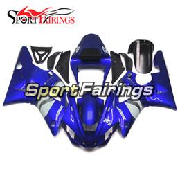 2019 1997 zx6r plásticos Peças plásticas do ABS para Yamaha 2000 2001 YZF1000 R1 Esquemas de cores brancos azuis completos R1 00 01 Bike Bodywork Kit Sportbike Panels