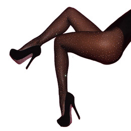 Calcetines de nylon femeninos online-Cristal de mujer sexy medias de las mujeres red de pescado neto femenino medias atractivas medias de medias medias de Navidad medias de diamantes de imitación