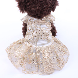 Farbige tutus online-Kleiner Hund Katze luxuriösen Hochzeitskleid Tutu-Katze-Welpen-Rock-Kleid-Ausstattungs-Dinner Party 5 Größen 2 Farben