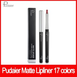 2019 New Pudaier Lip makeup eye makeup matte lipliner lipstick outlinerr longwear lip pencil ombretto eyeliner 2g 17 colori da
