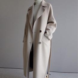 2020 корейская одежда для зимы Осень Зима куртка женщин корейской шерсти пальто женщина Vintage Шерстяные пальто Крупногабаритные Пальто Женская одежда 2019 Abrigo Mujer MY2284 скидка корейская одежда для зимы