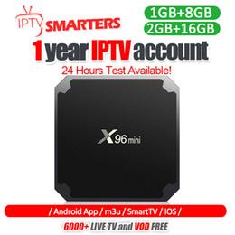 2019 iptv smart tv-box X96 Mini-Android-TV-Box mit IPTV-Abonnement für mehr als 30 Länder 7000+ Live für Smart-TV-M3U-MAG-Box rabatt iptv smart tv-box
