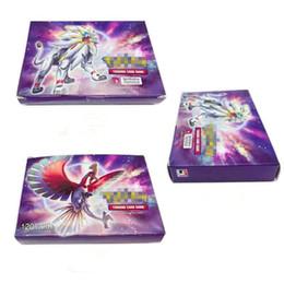 2019 научный пакет Anime коллекционные карточки 120pcs / серия 120GX + Trainer игры GX EX Mega карты Мультфильм Английский партбилет для детей взрослых Покерные блеск коробки Xmas
