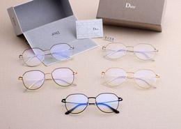 Occhiali da donna lente chiara online-[Con Box] Dior Light Blue Occhiali da Donne obiettivo chiaro Sport Occhiali da sole degli uomini degli occhiali Lentes Womens Sun Eye Glass Sunglass SGC081