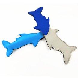 2019 congelatori portatili Popsicle Set riutilizzabile Portable Shark creativo Popsicle Ice Bag Ice Sleeves Freezer Holders per Ghiaccioli Ghiacciolo AC1119 sconti congelatori portatili