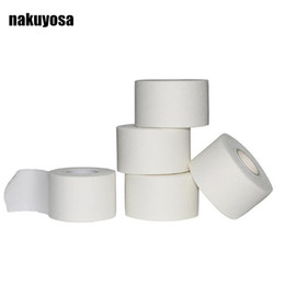 Ленточные ленты онлайн-3pcs Strong Strapping Rigid tape 1.25CM/2.5cm/3.8CM/5CM White Cotton (6 rolls/ lot) Protective Gear Fixing tapes Sports Basic
