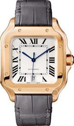 Billige lederband uhren online-Luxusuhr WGSA0011 automatische mechanische Herrenuhr Two Tone Rose Gold Fall Lederband Günstige New Gents Armbanduhren 39 mm