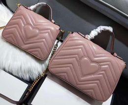 Modelli della borsa della spalla online-Newset Top Quality Love cuore V Wave Pattern Designer Borse con tracolla a tracolla Borsa da donna Borse a tracolla Borse a tracolla