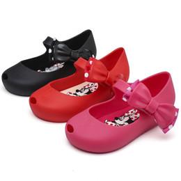 appartamenti di stampa animale Sconti Melissa jelly shoes bambini cartoon sandali stampati animali ragazze polka dots archi sandali principessa bambini sandali piatti antiscivolo spiaggia F8834