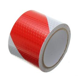 Fita reflexiva branca on-line-300CM * 5cm vermelho com branco sarja Tape Reflective Segurança auto-adesivo de aviso Conspicuity Noite refletor tira de fita Film Sticke