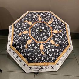Ombrelli stampati online-Ombrello da sole stile vintage con logo stampa UV di marca Ombrello da parasole antipioggia per esterno