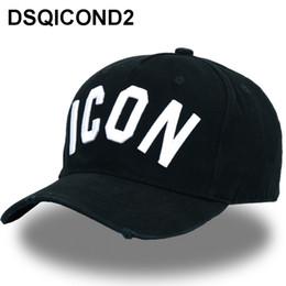 DSQICOND2 Großhandel Baumwolle Baseball Caps ICON Logo DSQ Buchstaben Hohe Qualität Kappe Männer Frauen Kunden Design Hut Schwarze Kappe Papa Hüte von Fabrikanten