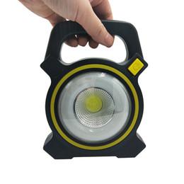 Le lampade a mano di lavoro hanno condotto online-BRELONG Lampade di lavoro di ricarica USB portatili Luci di tenda a energia solare all'aperto a LED, strumento di illuminazione da campeggio in mano