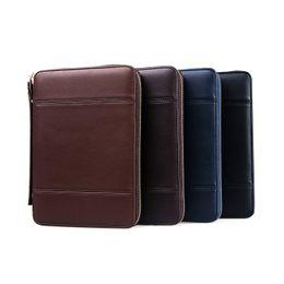 Canada Nouveau sac en cuir PU de haute qualité pour affaires à fermeture à glissière Style de ligne de voiture Adapté pour iPad 5 6 7 8 housse de protection pliable pour iPad Mini 1 2 3 4 9.7-i Offre