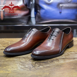 2020 zapatos personalizados hombres oxford Calzado para Super Man! 100% cuero genuino de la vaca de la pátina Oxford zapatos de los hombres vestido Derby encargo hecho a mano de la boda del novio rebajas zapatos personalizados hombres oxford