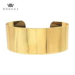 2020 collana di legno del colar 2018 gioielli di moda Oro Argento metallo del collare del Choker Grande collana di dichiarazione Collana Donne Colar Grande Collier Femme Chunky sconti collana di legno del colar