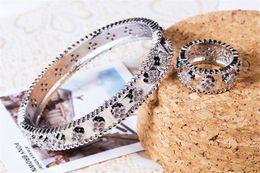 2019 toque para homens ct Designer de Luxo Anéis Pulseiras Conjuntos Mulheres Moda Flores Pulseiras Anéis de Prata de Ouro Meninas Wedding Jewelry Set Amante Presente