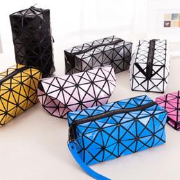 2019 sacos das senhoras do diamante Moda Diamond taumatúrgicas Mulheres Carteiras Retângulo Coin Purse Senhora Cosmetics Bag Zipper dobráveis Bolsas 9 cores armazenamento sacos das senhoras do diamante barato