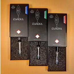 Cartouches en plastique en Ligne-Date Eureka Clear Carts Cartouches de Vape 0.8ml 1.0ml 1Gram Réservoir 510 cartouche boîte d'emballage en plastique noir boîte de cartouche magnétique