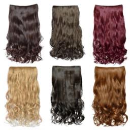 2019 jolies perruques pour femmes 1pc jolie femme fille bouclée cheveux perruque 5 clip mode dans les extensions de cheveux bouclés 9.7 gros jolies perruques pour femmes pas cher