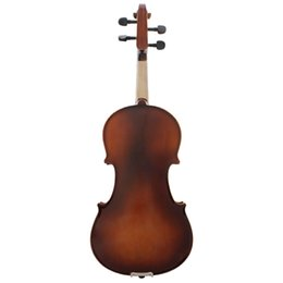 2019 partes de violino usadas Full Size Violin Retro Acústico violino de madeira sólida Spruce bordo Veneer com arco caso Rosin pano Cordas Shouder Resto