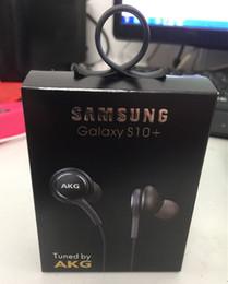 2019 più recente scatola S10 cuffie da 3,5 mm auricolari in-ear auricolari con microfono controllo remoto del volume per SAMSUNG S10 s10e s10 + con pacchetto di vendita al dettaglio da