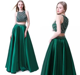 2019 abiti da sera in corsetto a nastro Custom Made fuori dalla spalla verde scuro bordato i vestiti delle 2 parti Prom 2019 Piano Lunghezza Prom Dress Fashion Party Gowns
