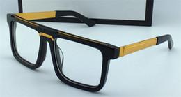Clásico vintage marco cuadrado hombres diseñador gafas ópticas 0078 venta popular simple estilo retro gafas de lente de calidad superior transparente desde fabricantes