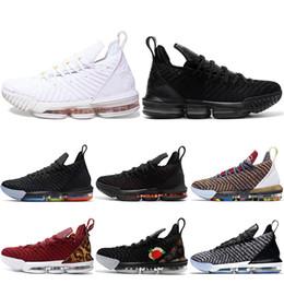 new style 2e386 7228f I Promise King 16 Chaussures de basket-ball pour hommes 16s 1 à 5 Oréos  Fraîches Triple Lakers Noires Blanc Rouge Designer Sport Baskets 7-12  promotion ...
