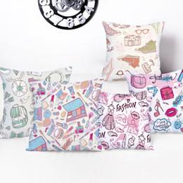 Fundas de almohada elegante online-Fundas de cojines elegantes Rosa Toss Almohada Helado Colorido Lollipop Cojines Cubierta Decoración para el hogar Cama Silla Niños Almohadas Funda
