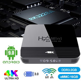 Android 9.0 tv box H96 Mini H8 с RK3228A 8GB / 16GB Dual Wifi поддержка Bluetooth и цифровой дисплей лучше, чем MXQ box от Поставщики hd media box iptv