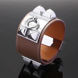 2019 bracelete de pulseira de ouro plano designer de luxo jóias mulheres pulseiras pulseiras de couro h pulseira mens pulseiras de ouro pulseira de couro pulseira de largura Plana bracelete de pulseira de ouro plano barato