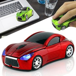Carro em forma de mouse óptico sem fio on-line-Sem fio Esporte Em Forma de Carro Do Mouse 1600 DPI Mouse Óptico Ergonômico 2.4G USB Receptor SL @ 88