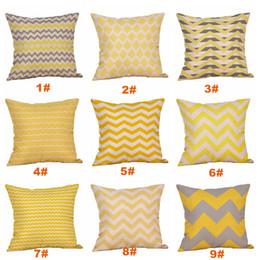 cuscini di tiro superman Sconti Fodera per cuscino in lino giallo fodera per cuscino grigio scuro Nordico Fodera per cuscino domestico decorativa in stile geometrico 45x45cm VT0089