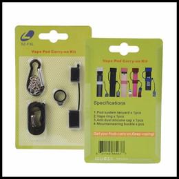 2019 clip di ego Nuovo Vape Pod Carry On Kit con cappuccio antipolvere in silicone Cordino Vape Ring per COCO SMPO MT Ecig Vape Pen Kit