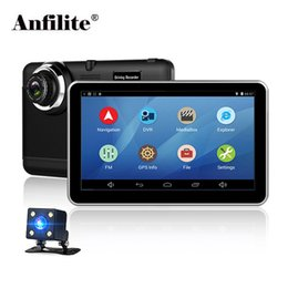 car gps free map wifi Coupons - Anfilite Car DVR GPS Navigation 7 inch Android Bluetooth wifi fhd 1080p Camera Recorder Vehicle GPS 1080P record free maps