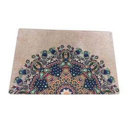 Stuoie stampate in gomma naturale per lo sport fitness yoga stuoie per fiori tappetini da viaggio antiscivolo resistenti all'umidità 40 * 60 cm ZZA908 cheap yoga mat natural da yoga mat naturale fornitori