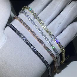 weißgold hochzeitsfarben Rabatt Vecalon 4 farben tennis armband prinzessin schnitt diamant weißgold gefüllt party hochzeit armbänder für frauen männer schmuck