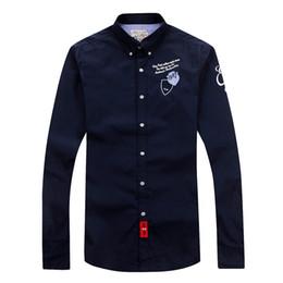 2019 schöne stoffe Eden Park Langarm-Shirt für Männer Hohe Qualität Schönes Design Business Casual Style Baumwollgewebe Größe M L XL XXL Freies Shippin günstig schöne stoffe