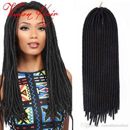 natürliche verschluss frisuren Rabatt Freetress Goddess Faux Locs Crochet Hair 20inches 100g / Pack Kanekalon Flechten Hair Goddess Locs Crochet Hair Extensions