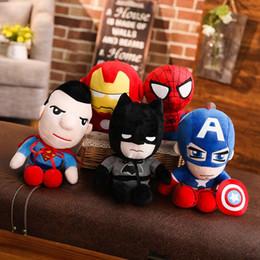 Presentes de videogames on-line-DHL Bonito 28 cm Q estilo Homem-Aranha Capitão América Stuffed brinquedos Super hero plush macio The Avengers presentes de pelúcia brinquedos para crianças brinquedos Anime kids