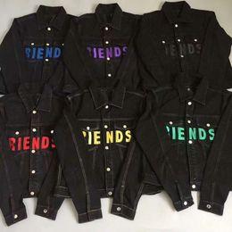 Vlone FRIENDS jaqueta Novo Estilo TOP Clássico vermelho LOGOTIPO Big Impressão Pop Mulheres homens jaqueta jaqueta Hip hop Skate Marca 6 cores de Fornecedores de jaquetas de militare aeronáutica
