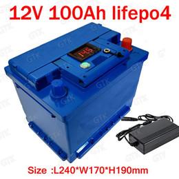 2019 cargador de restaurante GTK litio 12V 100AH lifepo4 batería con 100A BMS 4S 12.8V para inversor de potencia de 1200W RV barco MPPT Solar AGV + 10A Cargador