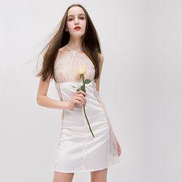 99cfa1c90bc Discount hot night dress lingerie - Women Sexy Sleepwear Hot New Illusion  Lace Neck Women Lingerie