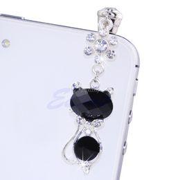 Marque nouvelle et de haute qualité 3.5mm Jack Cat Cristal Plug anti-poussière Anti-écouteurs Cap Stopper pour iPhone 6 Samsung Drop Ship ? partir de fabricateur