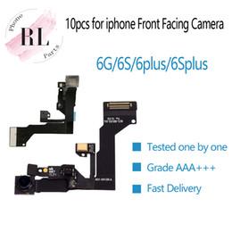 Telecamera anteriore online-10pcs / lot (prova uno per uno) per iPhone 6G 6 plus 6S 6s più sensore di prossimità di luce Flex Cable Ribbon + fotocamera frontale