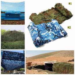 2019 rete camouflage camo 4 * 2m Tarp Outdoor Sun Shelter Tenda da campeggio Escursionismo Camuffamento Rete mimetica per caccia Campeggio 2 colori MMA2134 rete camouflage camo economici