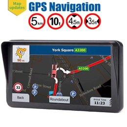 Deutschland HD Anti-Glare 9-Zoll-LKW GPS Navigator Auto-Navigation mit Sonnenschutz 8 GB Karten FM Bluetooth AVIN Unterstützung mehrerer Fahrzeuge cheap bluetooth shield Versorgung
