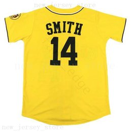 fresh shirts Coupons - Man The Fresh Prince of Bel-Air Academy #14 Will Smith Baseball Jerseys Yellow Cheap Stitched Smith Baseball Jersey Shirt